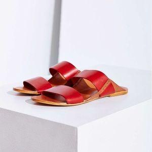 SOLD! ✨ BDG Robyn Red Leather Slide Sandals